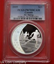 2009 Canada Vancouver Olympics Skiing Silver Proof Hologram Pcgs Certified