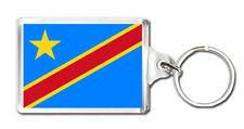 CONGO KINSHASA FLAG KEYRING SOUVENIR LLAVERO
