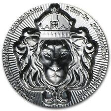 2 oz 999 Scottsdale Mint Silbemruenze Silver Stacker Lion 3D Rare