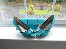 Jacques Vert Shoes, Bag - Navy and Turquoise Size 7 Brand New and boxed