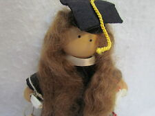2004 Lizzie High Little Sweethearts Graduate Wooden Doll ~ 8 Inches Tall