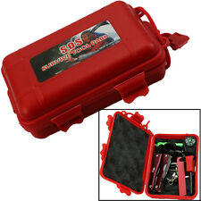 Self Help Outdoor Camping Hiking Sporting Survival Emergency Tools Box Kit New
