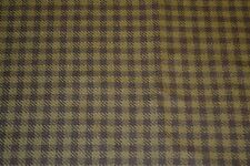 Olive/Brown Check Tweed Fabric Remnant 100% Wool 160cm x 148cm 1504282