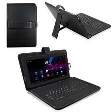 "10.1""Android Tablet PC Custodia Cover In Pelle tastiera USB folio"