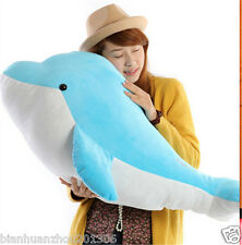 60cm Blue Plush Soft Big Dolphin Stuffed Animal Toy Doll Birthday Gift