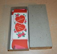 Box of 8 Vintage Volland Valentine's Day Cards Bookmarks NEW Joliet Illinois