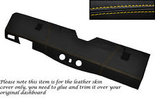 YELLOW STITCH BOTTOM DASH DASHBOARD COVER FITS LAND ROVER DEFENDER 90 110 83-06