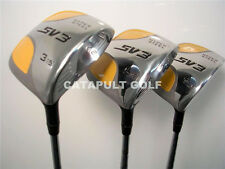 NEW LEFT HANDED +1 SQUARE LH WOOD SET 3 5 7 GOLF CLUBS!