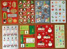 8 Sheets Christmas XMAS Santa Claus Snowman Winter Snow Scrapbook Stickers