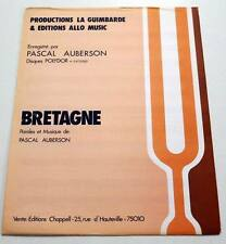 Partition vintage sheet music PASCAL AUBERSON : Bretagne * 70's