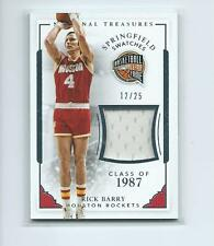 2015-16 National Treasures BKB #008 Rick Barry Rockets HOF SWATCH #12/25