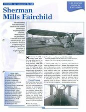 Sherman Mills Fairchild Aircraft Industries Aviation Corporation FRANCE FICHE