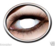Zoe BLIND WHITE lentille de couleur aveugle lens contact halloween horror zombie