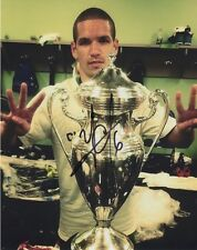 ASVALDO ALONSO SIGNED 8X10 PHOTO MLS SOUNDERS FC US OPEN CUP CHAMPIONSHIP TROPHY