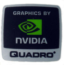 GRAPHICS BY NVIDIA QUADRO STICKER LOGO AUFKLEBER 18x18mm (135)