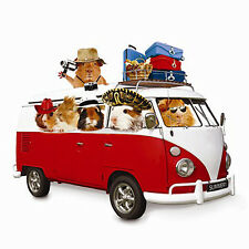 FUNNY GUINEA PIG ANY OCCASION CARD SUMMER HOLIDAY IN VW CAMPER VAN - NEW