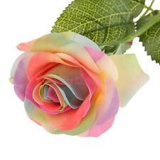 Rose Artificial Fake Bud Flower Home Party Decor Bridal Bouquet Multicolor