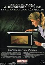 Publicité advertising 1987 Le Four Micro ondes Arthur martin