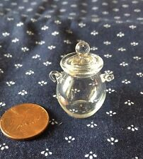 Large Glass Cookie / Candy Jar with Lid  - 1:12 scale Dollhouse Miniature
