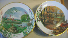 SET OF 12 FRANKLIN PORCELAIN NATURE SCENES by PETER BANETT PLATE COLLECTION 1979
