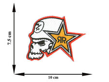 Skull Rock Star Punk Head Applique Iron on Patch Sew For T-shirt Jeans Cap Hat