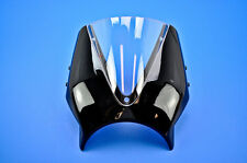 14-15 BMW R Nine T Puig Naked New Generation Windscreen Black/Clear  7012W