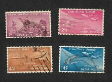 India 1954 Postage Stamp Centenary Mail Transport 4v used