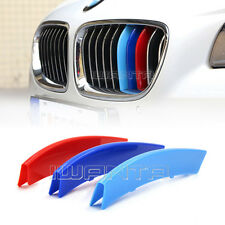 3x Car Front Grill Bar Cover M Color Decal Buckle Sticker For BMW 5 Series 11-13