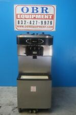 2008 TAYLOR COMMERCIAL SOFT SERVE ICE CREAM TWIN TWIST DISPENSER WITH CASTERS
