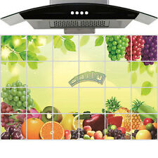 Aluminum Foil Fruits Wall Sticker Diy Oil Proof Kitchen Home Room Paper Decor