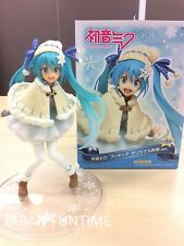 Official SEGA TAITO Hatsune Miku Figure Original Winter Costume clothes snow F/S