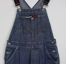 VTG LADIES TOMMY HILFIGER DUNGAREES KICK FLARES FESTIVAL DARNED SIZE  6 8  SMALL