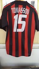 FOOTBALL JERSEY ORIGINAL  AC MILAN SIGNED JON DAHL TOMASSON #15