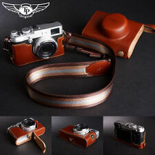 Genuine real Leather Full Camera Case bag cover for FUJIFILM X100 X100S Open