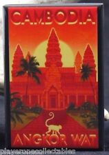 Angkor Wat Travel Poster - Fridge / Locker Magnet. Cambodia