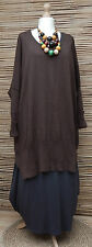 "LAGENLOOK  COTTON OVERSIZE LONG JUMPER/TUNIC*BROWN*BUST UP TO 60""OSFA XL-XXXL"