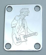 GUITAR NECK PLATE Custom Engraved Fit Fender - KEITH RICHARDS Rolling Stones