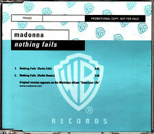 CD SINGLE promo MADONNA nothing fails 2-TRACKS GERMANY 2003