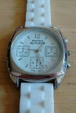 Vintage Montres de Fleur Unisex watch, new band running with new battery NR G