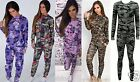 New Ladies Womens Loungewear TracksuitSet Jogger Camouflage Floral Print(UK8-14)