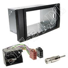 Ford Transit Galaxy Doppel-DIN Radioblende schwarz Einbaurahmen ISO Adapterkabel