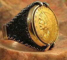 "Authentic  Solid Gold Indian affordable and ""not like the rest""!  Men's Ring"