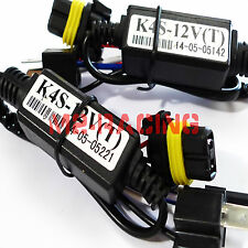 (2) Easy Relay Harness For H4 9003 Hi/Lo Bi-Xenon HID Bulbs Wiring Controllers