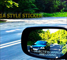 OBJECTS IN THE MIRROR Aufkleber shocker jdm oem style spiegel Sticker 222