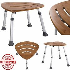 Wood Shower Stool Bath Corner Chair Shower Seat Medical Bench Chairs Spa Shelf