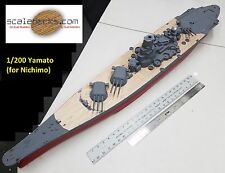 1/200 Yamato Wood Deck by Scaledecks.com (fits classic Nichimo kit)