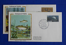"Canada (853-854) 1980 Endangered Wildlife Colorano ""Silk"" FDC set"