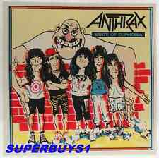 """ROCK AND ROLL BAND """"ANTHRAX"""" AUTHENTIC VINTAGE 80's EUPHORIA CONCERT STICKER"""