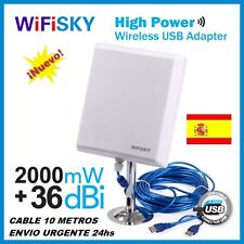 ★ WIFISKY N810,36dbi antenna Panel WIFI, 2000mw,2W, MELON N4000,NEW MODEL 2016