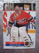 PATRICK ROY 4 Cards Lot Special Collectible #1 1992 PROSET Hockey GOALIE of YEAR